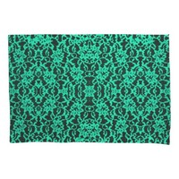 Irish Kelly Green Lace Pillowcase Pair