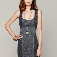 Free People Free People Washed French Terry Lace Bodycon