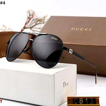 GUCCI 2019 new large frame driving polarized sunglasses #4