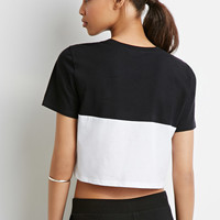 Colorblock Crop Top
