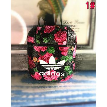 Adidas Newest iPhone Airpods Headphone Case Wireless Bluetooth Headphone Protector Case(No Headphones) 1#