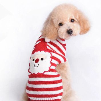 Santa Knit Dog Sweater