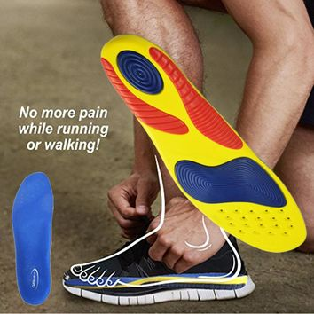 Athletic Comfort Insoles with Extra Shock Absorption Pads, Daily Wear Work Shoes Inserts,Arch Support Insole,Orthotic Insoles