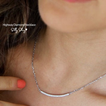 Diamond Highway Necklace 14K Gold