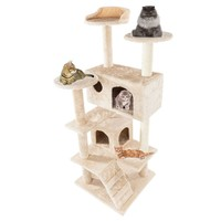"Deluxe 36""/60""/52"" Cat Tree Condo Play Toy Scratch Post Cat Pet Tree Furniture"