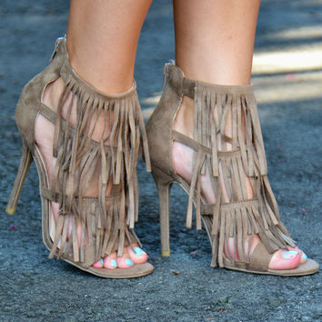 Life of the Party heels, taupe