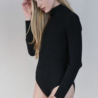 RIBBED TURTLENECK BODYSUIT