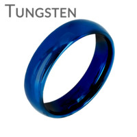 Blue Bayou 6mm - Tungsten Carbide 6mm Polished Traditional Wedding band