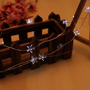 LED Star Wire String Lights LED Fairy Lights Christmas Wedding decoration Lights