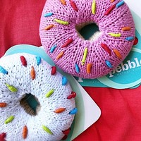 Donut Knitted Baby Rattles - Fair Trade
