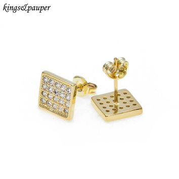 Fahsion Hip Hop Men Jewelry AAA Studded Zircon Male Earrings Accessories