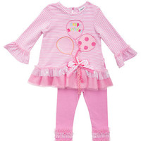 Rare Editions Baby Girls Baby Girls Embellished Tunic and Legging Set