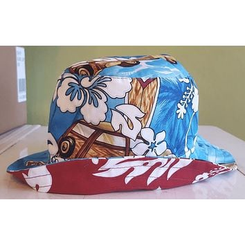 Assorted Kids Reversible Hawaiian Print Bucket Hats
