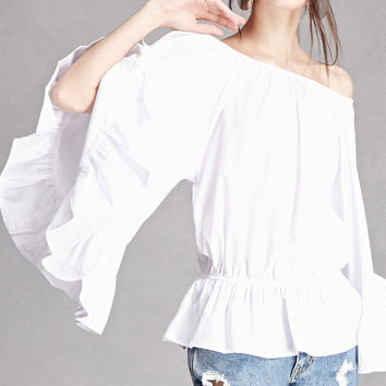 Off-the-Shoulder Peplum Top