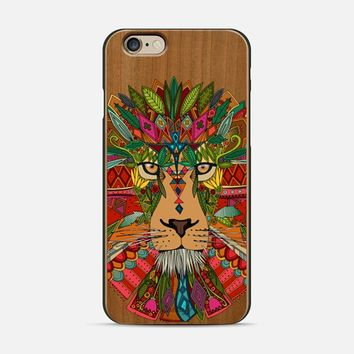 lion wood iPhone 6 case by Sharon Turner | Casetify