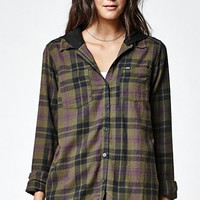 Hurley Wilson Hooded Plaid Button-Down Shirt at PacSun.com