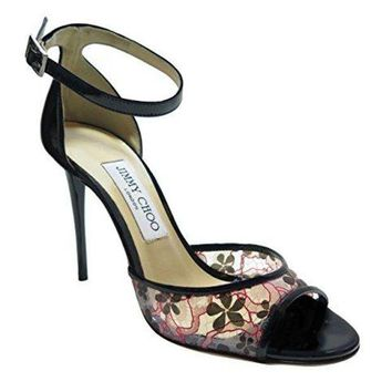 ONETOW Jimmy Choo Black Floral Sandals 37