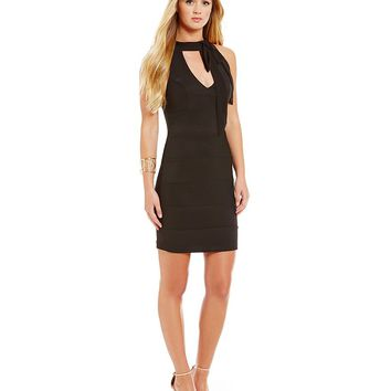 Honey and Rosie Tie-Neckline Sheath Dress | Dillards