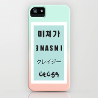 Insane / Crazy iPhone & iPod Case by Sara Eshak