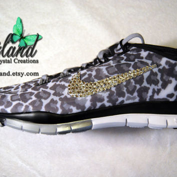 SALE Black & Grey Cheetah Women's Nike Free TR by Glitzland