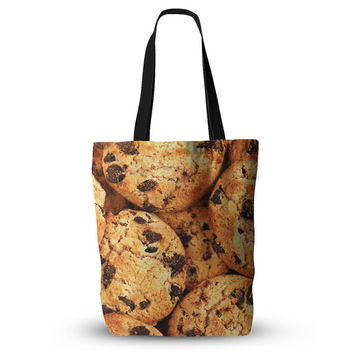"""Chocolate Chip Cookie Food Print Unique Mom Grocery Diaper Beach Tote Bag 18""""x18"""""""