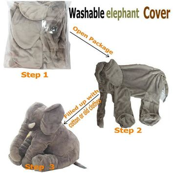 55cm elephant Skin plush toy cover stuffed animal skin cover washable plush cover baby appease sleep pillow kids Pillow ClamKawaii Pokemon go  AT_89_9