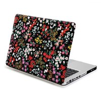 MacBook Pro 13 Case, GMYLE Hard Case Print Frosted for MacBook Pro 13 inch (Model : A1278) - Retro Floral Pattern Rubber Coated Hard Shell Case Cover (Not Fit For Macbook Pro Retina 13)