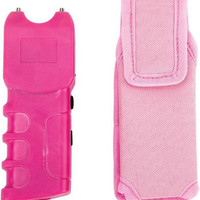 maxam pink stun gun w/ light + sheath