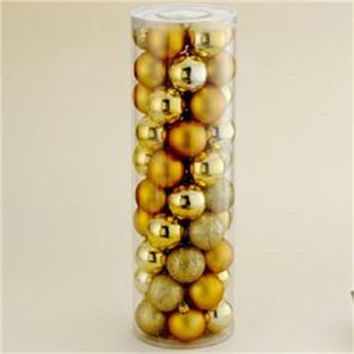 "200 Christmas Ball Ornaments -  2.25 ""  - Gold"