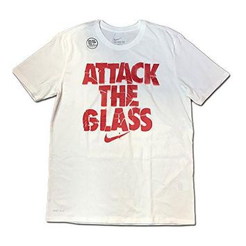 Nike SGX Attack The Glass Dri-Fit Basketball Shirt Men's 644598 100 White Size Large