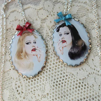 Bloody Vixens - Vampire Pinup Necklaces