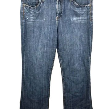 Kut From The Kloth Jeans KP259A4M13 Bootcut Flap Back Pocket Stretch Womens 14 - Preowned