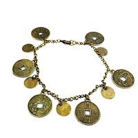 Gold Coin and Disc Anklet