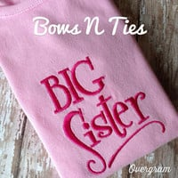 Little siste big sister little brother big brother one piece bodysuit or toddler tee choose colors