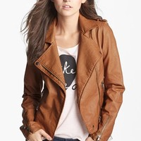 Thread & Supply Faux Leather Moto Jacket (Juniors) (Online Only) | Nordstrom