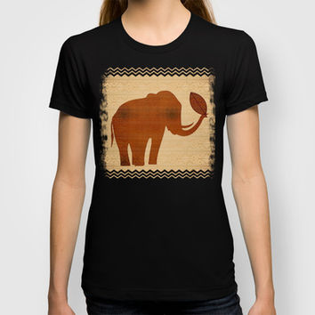 Elephant Tribal Art Design T-shirt by Bluedarkat Lem