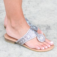 Preppy Sandal – Silver  + Pewter Combo
