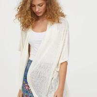 Fine-knit cardigan - Natural white - Ladies | H&M GB