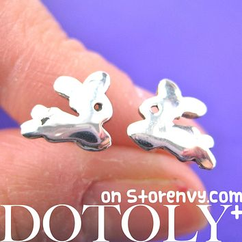 Bunny Rabbit Animal Stud Earrings in Sterling Silver | DOTOLY