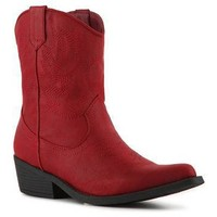 Rampage Wagner Red Cowboy Bootie