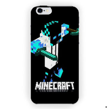 Black Siluet Minecraft For iPhone 6 / 6 Plus Case