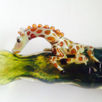 Glass pipes Lookin for Treez by PurtyGlass on Etsy