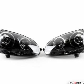European Projector Headlight Set - Blackout