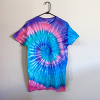 Vibrant Tie Dye Shirt - Mermaid - Psychedelic - Festival - Summer - Pink/ Purple/ Blue/ Sea Green