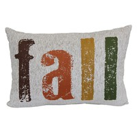 Harvest ''Fall'' Oblong Throw Pillow (White)