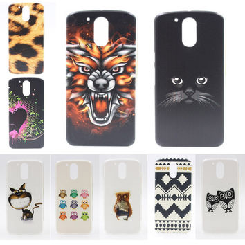 Cover For Motorola Moto G4 Plus G 4 Case Coloured Drawing Hard Plastic Protective Back fundas For Motorola Moto G4 Phone Cases