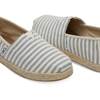 SKY WOVEN STRIPE ROPE SOLE YOUTH CLASSICS
