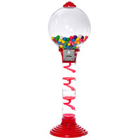 Metal 3-Foot Spiral Gumball Machine with Gumballs