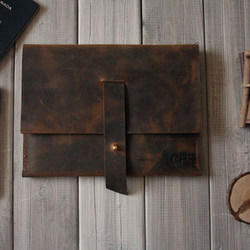Distressed Leather iPad Mini Case, Leather Kindle Paperwhite sleeves, Google Nexus 7 Case - leather portfolio, iphone case Notebook Holder