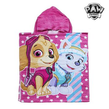 PAW Patrol Pink Hooded Poncho Towel